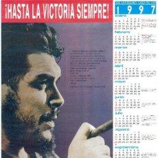 Carteles: POSTER CALENDARIO DEL CHE GUEVARA - TRAIDO DE CUBA EN 1997 - HASTA LA VICTORIA SIEMPRE - 59X43. Lote 30797270