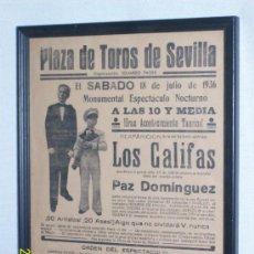 Carteles: PLAZA DE TOROS DE SEVILLA. 18 DE JULIO DE 1936. MONUMENTAL ESPECTÁCULO NOCTURNO -. Lote 31513357