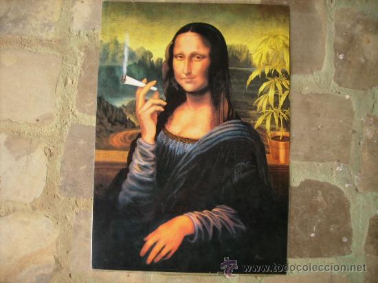 Curiosa Lamina-poster Plastificado,de Mona Lisa