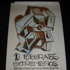 Carteles: CARTEL EXPOSICIÓN 10 FOTOGRAFOS EXTREMEÑOS . CONCEJALÍA DE LA JUVENTUD. CÁCERES 1987. Lote 32845241