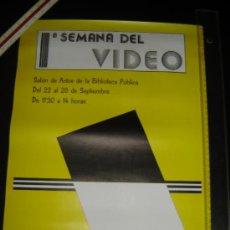 Carteles: CARTEL 1ª SEMANA DEL VIDEO . CONCEJALÍA DE LA JUVENTUD. CÁCERES AÑOS 80.. Lote 32845781