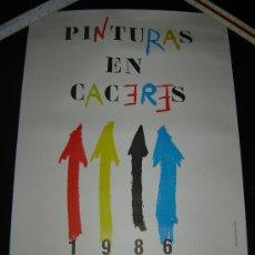 Carteles: CARTEL PINTURAS EN CÁCERES. ARTE JOVEN EN LA CALLE. CONCEJALÍA DE LA JUVENTUD. CÁCERES 1986. Lote 32845805
