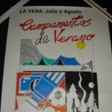 Carteles: CARTEL CAMPAMENTOS DE VERANO. LA VERA . CÁCERES 1987. AÑOS 80. Lote 32845875