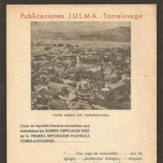 Carteles: HOJA PUBLICACIONES *JULMA* TORRELAVEGA. Lote 33048523