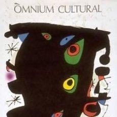 Carteles: CARTEL MIRÓ OMNIUM CULTURAL.1968. 54X74 CM.. Lote 45944553