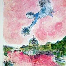 Carteles: CHAGALL, M.(1887-1985). CARTEL EXPOSICION PARIS 1981.. Lote 33377408
