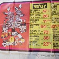 Carteles: ANTIGUO CARTEL DE TIENDA O SUPERMERCADO VEGE CODORNIU CINZANO VALDESPINO JEREZ .... Lote 25639521
