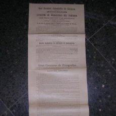 Carteles: CARTEL 1903 REAL SOCIEDAD COLOMBOFILA DE CATALUNYA INAGURACION ESTACION DE MENSAJERAS FOTOGRAFIA - . Lote 34185125