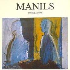 Carteles: MANILS. 1985. MANILS. 30 X 42 CM. BARCELONA. Lote 34314718