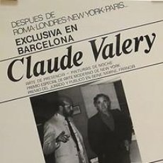 Carteles: CLAUDE VALERY. 1983. 30 X 42 CM. BARCELONA. Lote 34362719