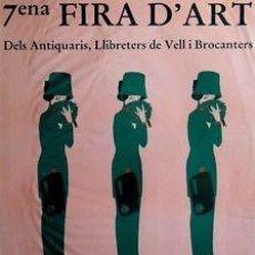 Carteles: CARTEL 7ENA FIRA D'ART. 1988. 51X70 CM.. Lote 34362809