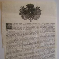 Carteles: FLORENCIA TOSCANA AÑO 1770 ANTIGUO CARTEL ITALIANO DEUDAS DEL VAL D´ARNO… 46 CM. Lote 34365701