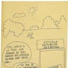 Carteles: CARTEL ESCUELA REPUBLICA ARGENTINA. EL PERICH CATALUNYA BARCELONA C.1977 28X44. Lote 34473113