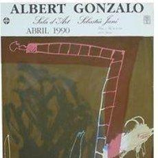 Carteles: CARTEL ALBERT GONZALO. 1990. CATALUNYA. BARCELONA. LITOGRAFIA. 48 X80. Lote 34486818