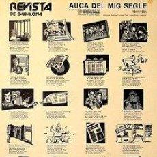 Carteles: CARTEL REVISTA DE BADALONA AUCA DEL MIG SEGLE.GUAL LLOBERAS/CANTADOR.1991.45X65. Lote 34547762