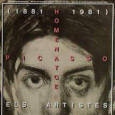 Carteles: CARTEL HOMENATGE PICASSO. 1981. ENRIC SATUÉ. 34X48 CM.. Lote 42649748