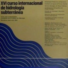 Carteles: CARTEL XVI CURSO INTER. HIDROLOGÍA....1982.HUGUET.43X62. Lote 34804672