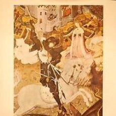 Carteles: CARTEL SANT JORDI. BERNAT MARTORELL (1438). BERNAT MARTORELL. 1980. 48X69. Lote 34805105