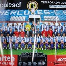 Carteles: POSTER FUTBOL HERCULES DE ALICANTE- 2009-2010 DORSO CANTERA Y PRIMER EQUIPO TAMAÑO 85X60 CM APRO. . Lote 34932013