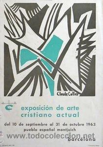 CARTEL EXPO. ARTE CRISTIANO ACTUAL.1963.C. COLLET.35X50 (Coleccionismo - Carteles Gran Formato - Carteles Varios)
