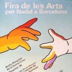 Carteles: CARTEL FIRA ARTS PER NADAL.1979.ESCOLA MASSANA.47X69 CM. Lote 35008224