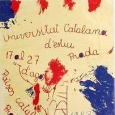 Carteles: CARTEL UNIVERSITAT CATALANA ESTIU PRADA 1983. GUINOVART. Lote 35101327