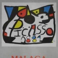 Carteles: CARTEL MIRÓ. PICASSO. MÁLAGA1981. 47X67 CM.. Lote 35141632