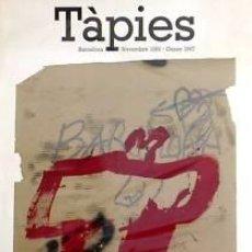 Carteles: CARTEL TÀPIES. 1987. TÀPIES, ANTONI. 69X99 CM.. Lote 35142552