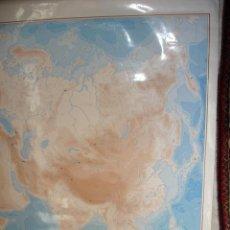 Carteles: ASIA Y AFRICA MAPA PARA COLGAR ENCERADO ESCUELA DIBUJANDO CON ROTULADOR.97X134.EDIGOL.1989.. Lote 35167022
