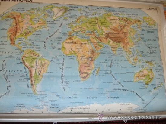 Mapa mundi politico colgar escue vendido - Mural mapa mundi ...