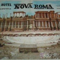 Carteles: CARTEL DEL ANUNCIO HOTEL NOVA ROMA DE MERIDA. Lote 35205371