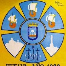 Carteles: CARTEL FIESTAS COLOMBINAS.HUELVA.1982.MUÑOZ DELGADO. Lote 35309613