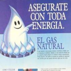 Carteles: CARTEL ASEGURATE CON TODA ENERGIA: EL GAS NATURAL. C.1980. CATALUNYA. BARCELONA.. Lote 35858810