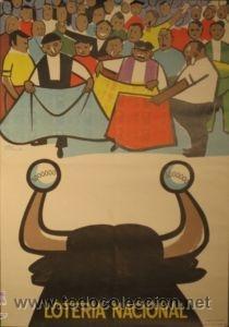 CARTEL LOTERIA NACIONAL. 1974. REY, PADILLA. 48 X 69 CM (Coleccionismo - Carteles Gran Formato - Carteles Varios)