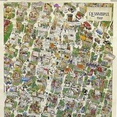 Carteles: CARTEL L'EIXAMPLE (BARCELONA) 1987. MARI CAÑELLAS. 56X82. CATALUNYA. BARCELONA. Lote 36017944