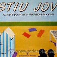 Carteles: CARTEL ESTIU JOVE, 1984. CASAS, TONI. 88 X 62 CM.. Lote 36035315