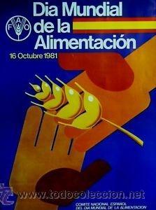 Cartel Dia Mundial De La Alimentacion 1981 67 Comprar En Todocoleccion 36096062