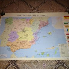 Carteles: MAPA AUTONOMICO ESPAÑOL. Lote 36479025