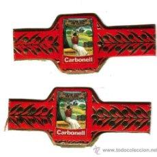 Carteles: DOS VITOLAS DE ACEITES CARBONELL, AÑOS 1990. Lote 37114863