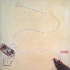 Carteles: CARTEL ORIGINAL DE EXPOSICIÓN DE TAPIES, 1987. PAPEL GRUESO, TAMAÑO GRANDE 50X85CM APROX.. Lote 37311777