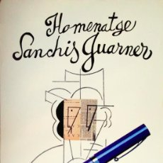 Carteles: CARTEL HOMENAJE SANCHIS GUARNER. MANOLO VALDÉS (EQUIPO CRÓNICA) AÑO 1985. 53X98 CM. .. Lote 37405599