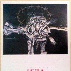 Carteles: CARTEL DE LA EXPOSICIÓN ANTONIO SAURA EN EL IVAM DE 1989, 48X68 CM. . Lote 108376914