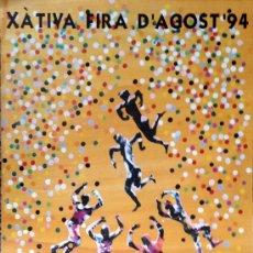 Carteles: CARTEL JUAN GENOVÉS, FIRA D'AGOST XÀTIVA 1984, 70X100 APROX. ORIGINAL . Lote 37869035
