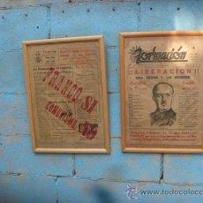 Carteles: 2 CARTELES FRANCO,AÑO 1946. Lote 39003294