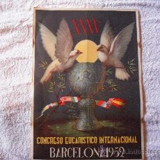 Carteles: CONGRESO EUCARISTICO INTERNACIONAL BARCELONA 1952. Lote 39020293