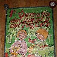 Carteles: CARTEL PRIMERA SEMANA DEL JUEGO Y DEL JUGUETE 1983. Lote 39207715