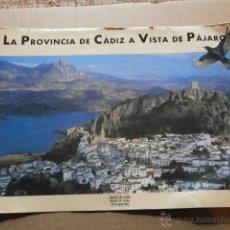 Carteles: CARTEL LA PROVINCIA DE CADIZ A VISTA DE PAJARO CARTEL-UNICAJA-1. Lote 39539771