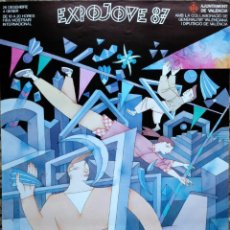 Carteles: CARTEL EXPOJOVE 1987 ILUSTRADO POR MIGUEL CALATAYUD. 50X70 CM APROX.. Lote 39631131