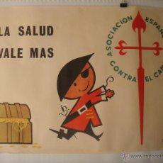 Carteles: CARTEL ASOCIACIÓN ESPAÑOLA CONTRA EL CÁNCER, AÑO 1964. GRÁFICAS REUNIDAS S.A. IGNIS. Lote 39774482
