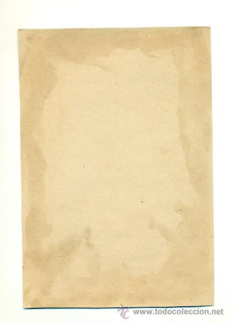 Carteles: ANTIGUA LAMINA POSTAL CROMO - NIÑA EN SILLON 13X19 - Foto 2 - 39854742